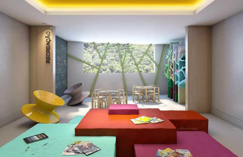 Perspectiva Brinquedoteca - Botafogo! Luxuoso 3 quartos(suíte), varanda, 2 vagas, Vista deslumbrante. - LAAP31659 - 22