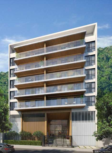 Perspectiva Fachada - Botafogo! Luxuoso 3 quartos(suíte), varanda, 2 vagas, Vista deslumbrante. - LAAP31659 - 20