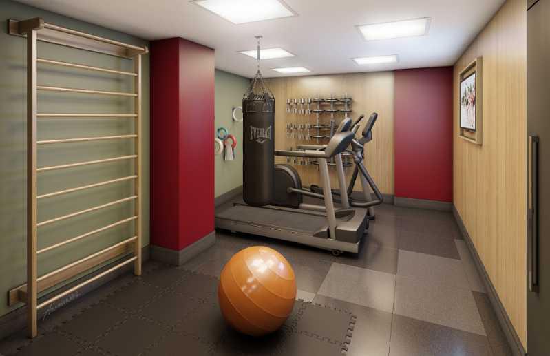 Perspectiva Sala Fitness - Botafogo! Luxuoso 3 quartos(suíte), varanda, 2 vagas, Vista deslumbrante. - LAAP31659 - 24