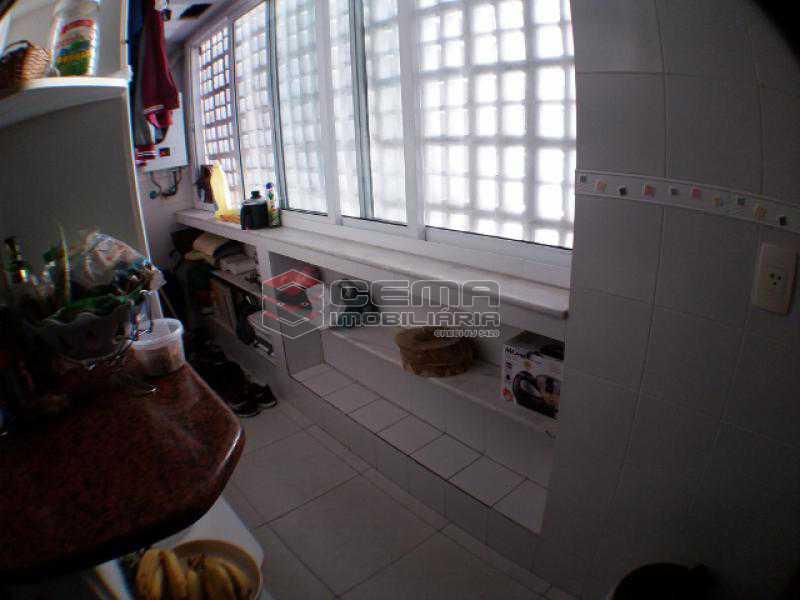 Área de serviço - Apartamento com varanda, 3 três quartos em Laranjeiras. - LAAP31811 - 23