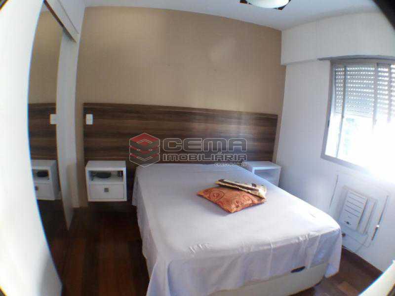 Quarto 1 - Apartamento com varanda, 3 três quartos em Laranjeiras. - LAAP31811 - 9