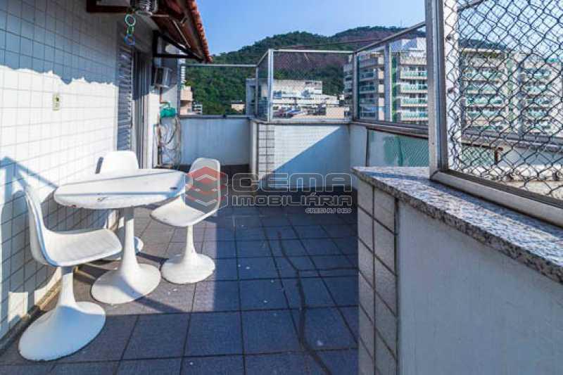 VISTA - Cobertura linear, 3 quartos em Botafogo com vaga. - LACO30176 - 1
