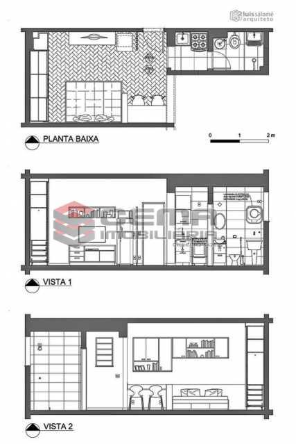 planta - Kitnet/Conjugado 22m² à venda Rua do Catete,Glória, Zona Sul RJ - R$ 328.000 - LAKI00897 - 16