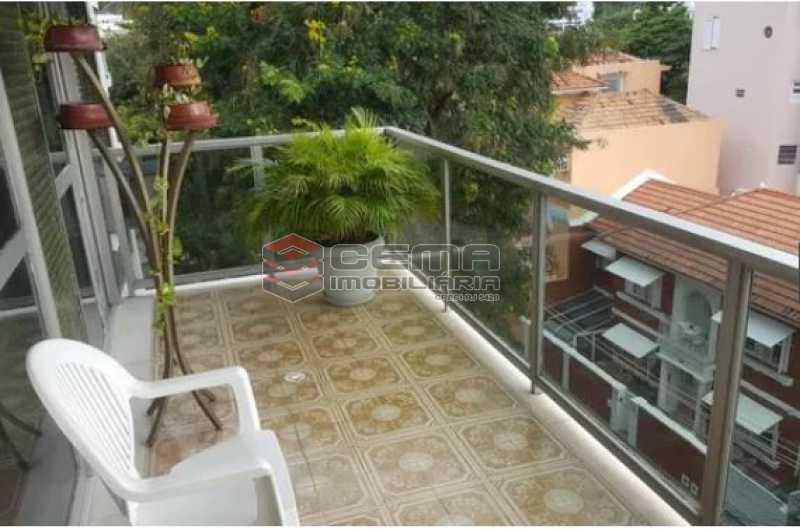 varanda - Apartamento à venda Rua Osório de Almeida,Urca, Zona Sul RJ - R$ 3.500.000 - LAAP40563 - 1