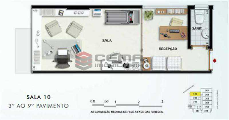 SALA 310 - Sala Comercial 22m² à venda Tijuca, Zona Norte RJ - R$ 403.000 - LASL00356 - 1
