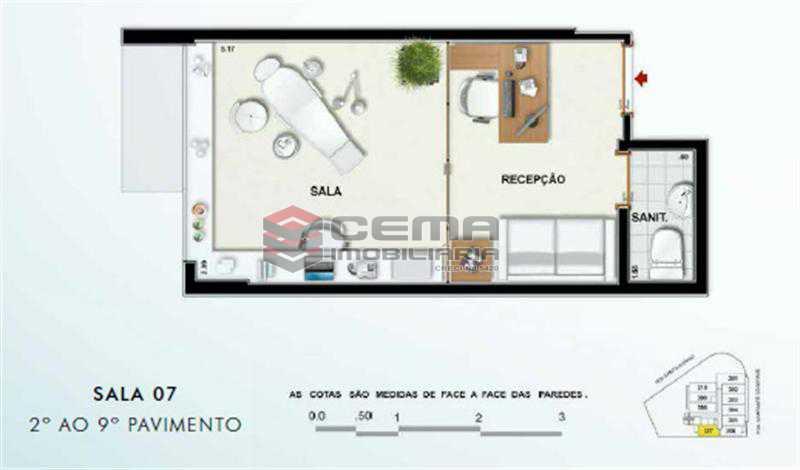 SALA 407 - Sala Comercial 19m² à venda Tijuca, Zona Norte RJ - R$ 364.000 - LASL00358 - 1