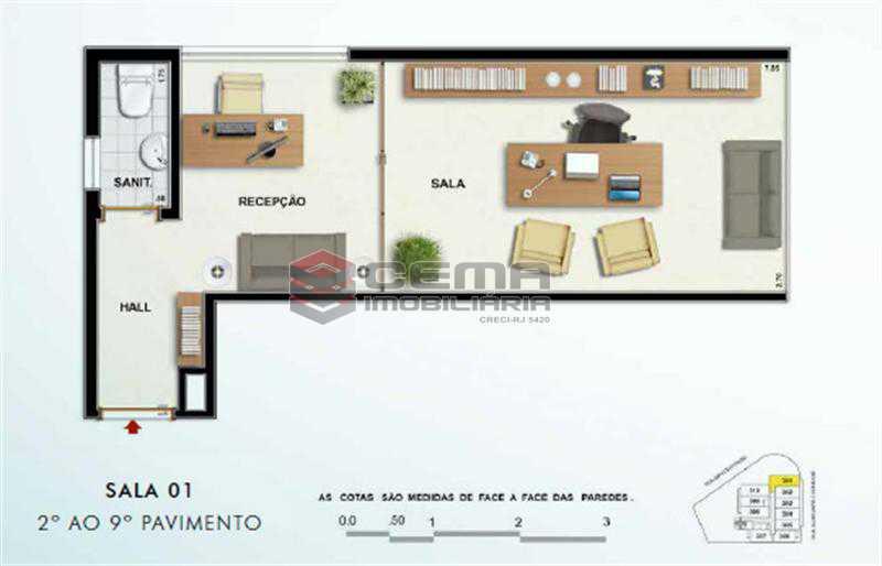 SALA 601 - Sala Comercial 26m² à venda Tijuca, Zona Norte RJ - R$ 464.000 - LASL00359 - 1