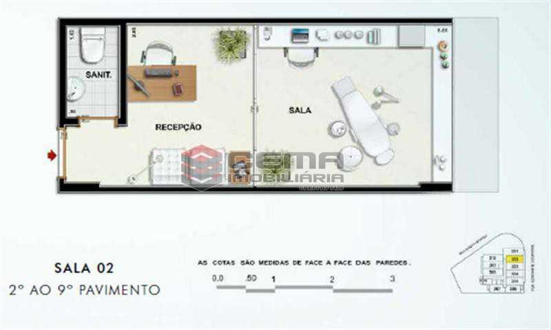 SALA 902 - Sala Comercial 19m² à venda Tijuca, Zona Norte RJ - R$ 400.000 - LASL00365 - 1