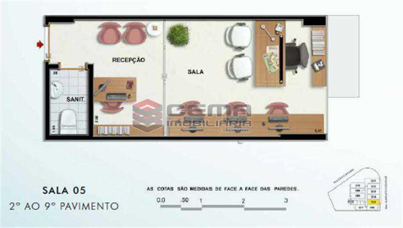 SALA 905 - Sala Comercial 20m² à venda Tijuca, Zona Norte RJ - R$ 399.000 - LASL00367 - 1