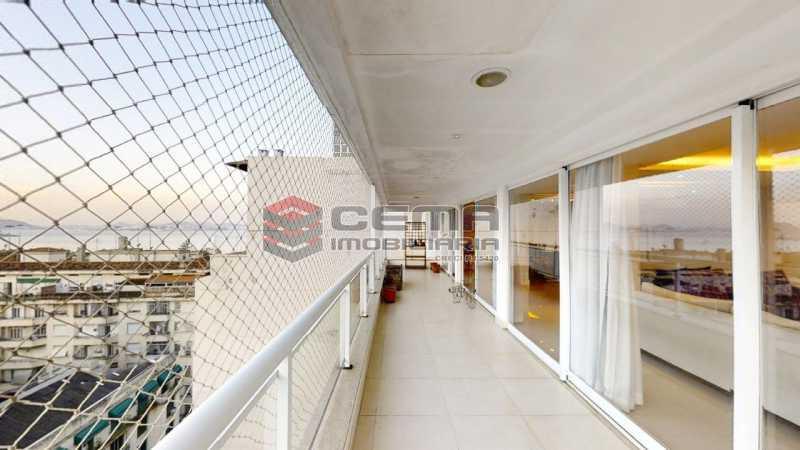 varanda - Cobertura 4 quartos à venda Flamengo, Zona Sul RJ - R$ 3.500.000 - LACO40103 - 1