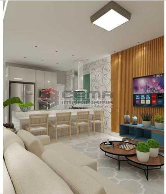 4-SALA DE ESTAR - Apartamento 2 Quartos À Venda Santa Teresa, Zona Centro RJ - R$ 550.000 - LAAP23414 - 5