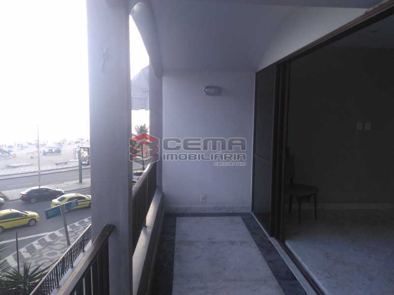 3.varanda - Apartamento à venda Avenida Vieira Souto,Ipanema, Zona Sul RJ - R$ 4.600.000 - LAAP32993 - 5