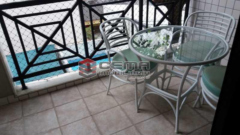 Varanda - Flat à venda Rua Cruz Lima,Flamengo, Zona Sul RJ - R$ 1.200.000 - LAFL30003 - 1