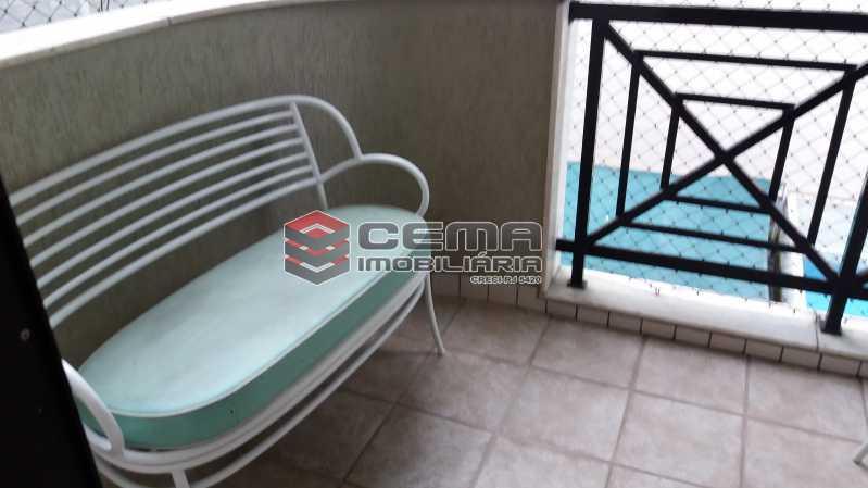 Varanda - Flat à venda Rua Cruz Lima,Flamengo, Zona Sul RJ - R$ 1.200.000 - LAFL30003 - 5