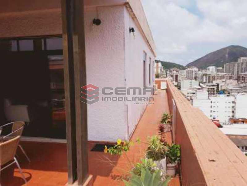 terraço lateral - Cobertura à venda Rua Marquês de Olinda,Botafogo, Zona Sul RJ - R$ 2.100.000 - LACO40120 - 5
