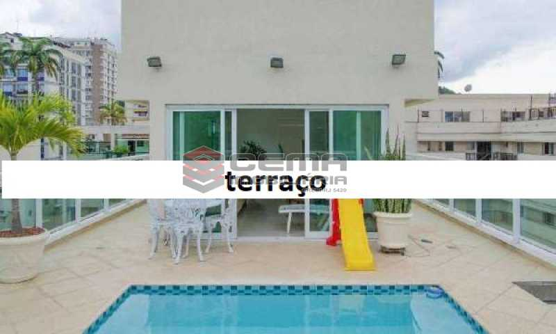 terraço - Cobertura à venda Rua Marquês de Pinedo,Laranjeiras, Zona Sul RJ - R$ 3.300.000 - LACO50016 - 3