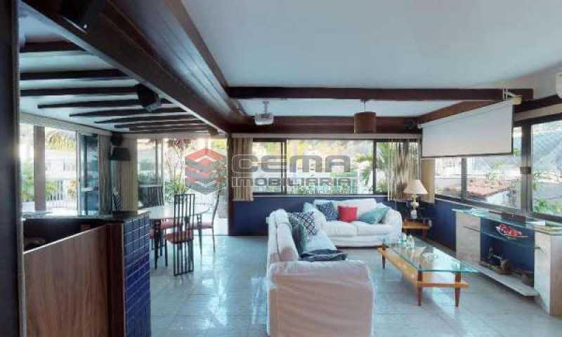 terraço parte coberta - Cobertura à venda Rua Paissandu,Flamengo, Zona Sul RJ - R$ 3.650.000 - LACO40121 - 4