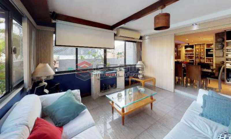 terraço parte coberta - Cobertura à venda Rua Paissandu,Flamengo, Zona Sul RJ - R$ 3.650.000 - LACO40121 - 5