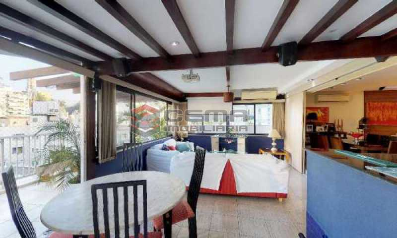 terraço parte coberta - Cobertura à venda Rua Paissandu,Flamengo, Zona Sul RJ - R$ 3.650.000 - LACO40121 - 7