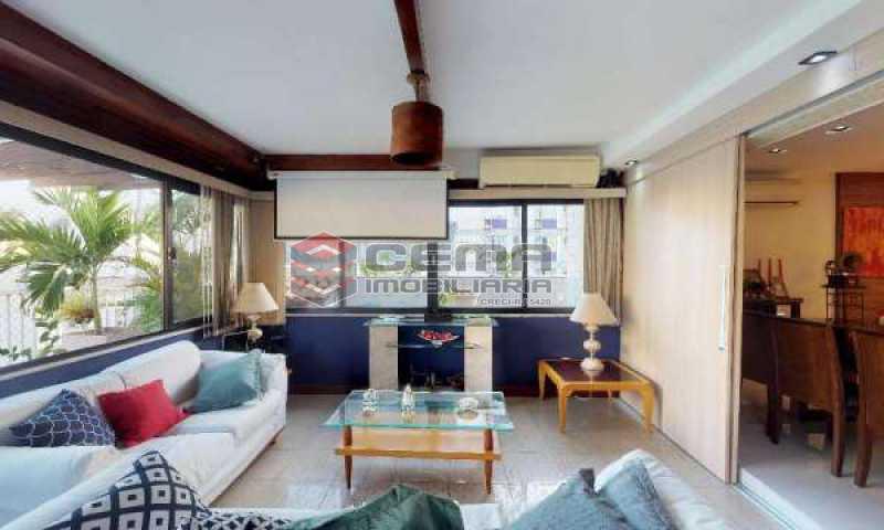 terraço parte coberta - Cobertura à venda Rua Paissandu,Flamengo, Zona Sul RJ - R$ 3.650.000 - LACO40121 - 9