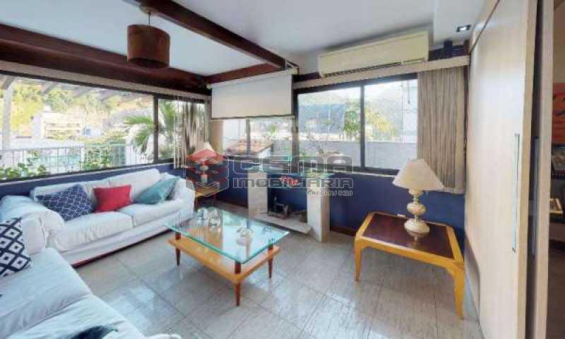 terraço parte coberta - Cobertura à venda Rua Paissandu,Flamengo, Zona Sul RJ - R$ 3.650.000 - LACO40121 - 10