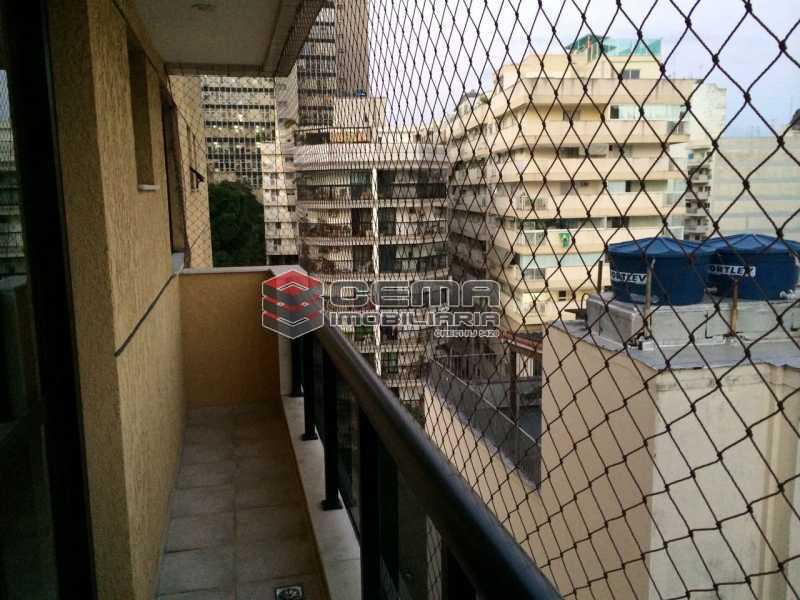 varanda - Flat 1 quarto para alugar Botafogo, Zona Sul RJ - R$ 2.600 - LAFL10069 - 3