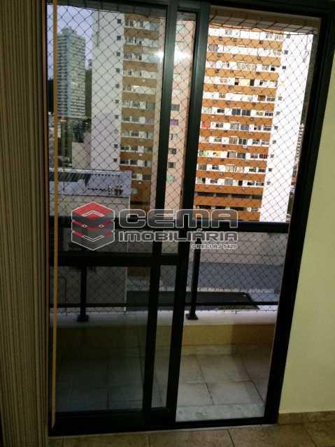 varanda - Flat 1 quarto para alugar Botafogo, Zona Sul RJ - R$ 2.600 - LAFL10069 - 6