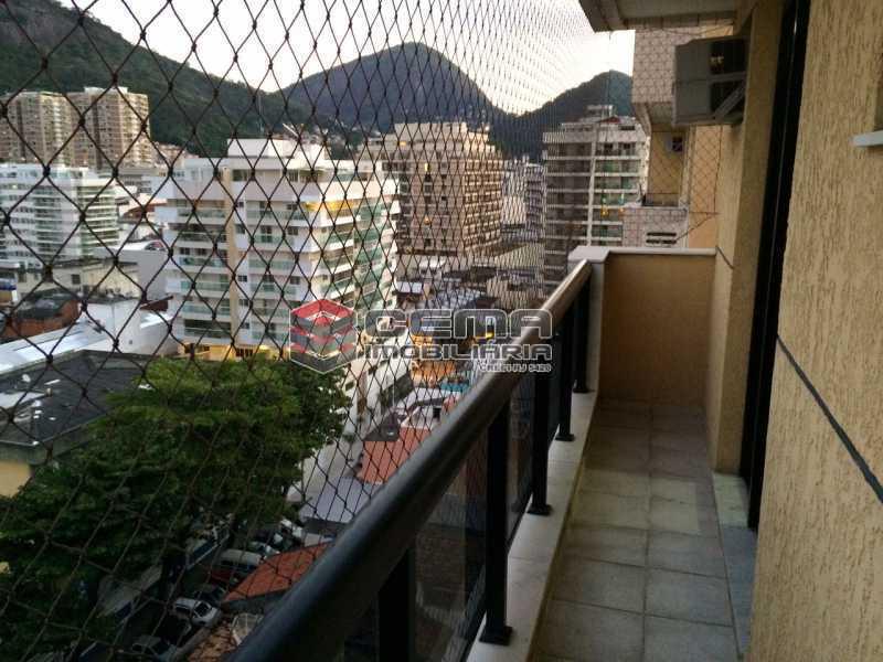 varanda - Flat 1 quarto para alugar Botafogo, Zona Sul RJ - R$ 2.600 - LAFL10069 - 1