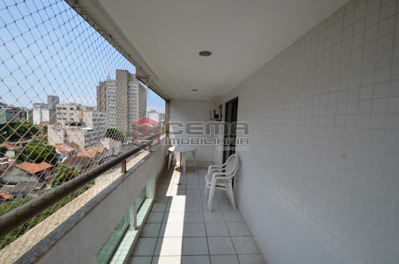 Varanda Lado Direito - Cobertura à venda Rua Visconde de Silva,Botafogo, Zona Sul RJ - R$ 2.790.000 - LACO30274 - 9
