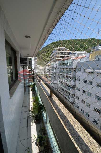 Varanda Lateral Vista para os  - Cobertura à venda Rua Visconde de Silva,Botafogo, Zona Sul RJ - R$ 2.790.000 - LACO30274 - 12