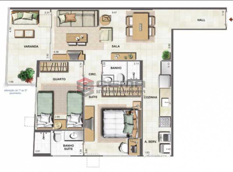24 - Apartamento 2 quartos à venda São Cristóvão, Rio de Janeiro - R$ 490.000 - LAAP24685 - 25