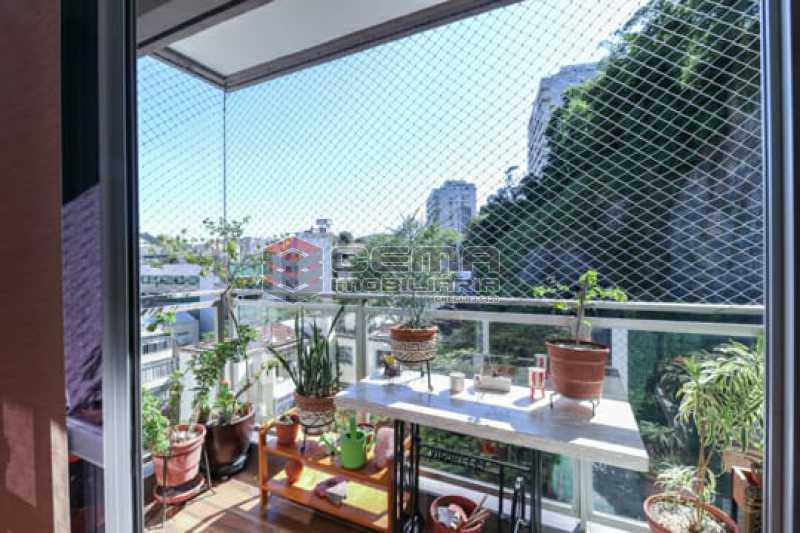 varanda  - Apto Laranjeiras para venda com 2 quartos, suíte, varanda, garagem e infraestrututa - LAAP24794 - 1
