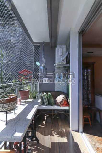 vanranda1 - Apto Laranjeiras para venda com 2 quartos, suíte, varanda, garagem e infraestrututa - LAAP24794 - 3