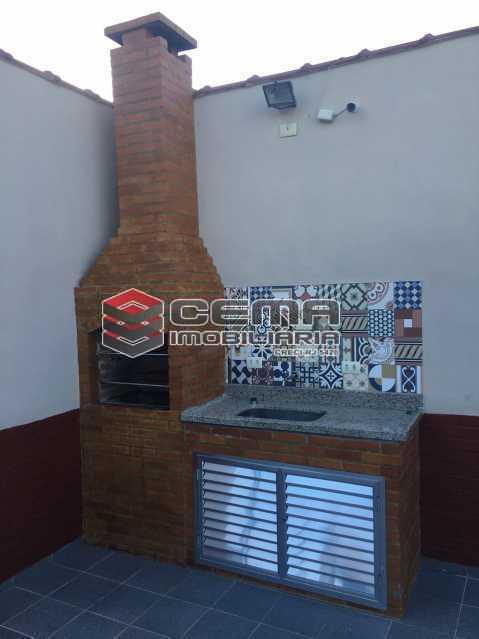 Terraço/área de lazer - Apartamento 1 quarto à venda Catete, Zona Sul RJ - R$ 380.000 - LAAP12797 - 22