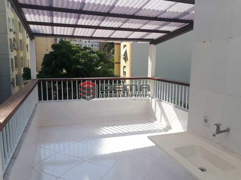 lavanderia terraço - Casa de Vila 4 quartos à venda Flamengo, Zona Sul RJ - R$ 850.000 - LACV40029 - 16