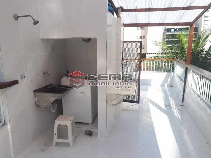 lavanderia terraço - Casa de Vila 4 quartos à venda Flamengo, Zona Sul RJ - R$ 850.000 - LACV40029 - 17