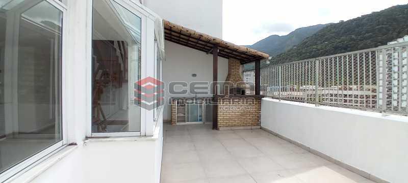 21-terraço com churrasqueira - Cobertura 3 quartos à venda Lagoa, Zona Sul RJ - R$ 2.000.000 - LACO30296 - 22