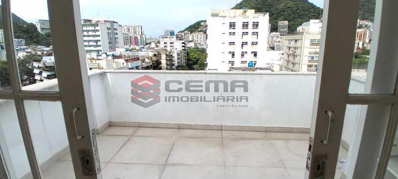 27-área externa 3º piso - Cobertura 3 quartos à venda Lagoa, Zona Sul RJ - R$ 2.000.000 - LACO30296 - 28