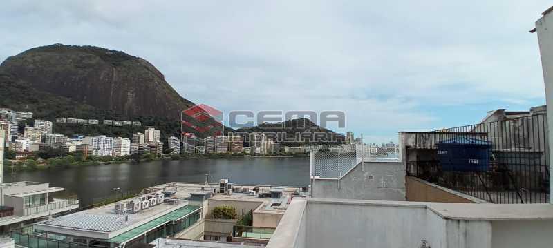 29-vista 3º piso - Cobertura 3 quartos à venda Lagoa, Zona Sul RJ - R$ 2.000.000 - LACO30296 - 30