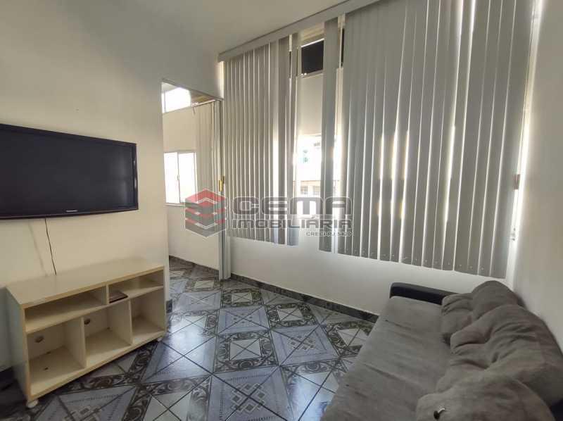 sala - Excelente Apartamento Quarto e Sala MOBILIADO na Glória - LAAP13000 - 4