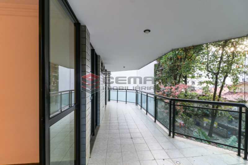 Varanda  - Apartamento 3 quartos para alugar Laranjeiras, Zona Sul RJ - R$ 4.600 - LAAP34546 - 1