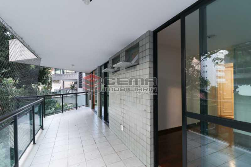 Varanda  - Apartamento 3 quartos para alugar Laranjeiras, Zona Sul RJ - R$ 4.600 - LAAP34546 - 3