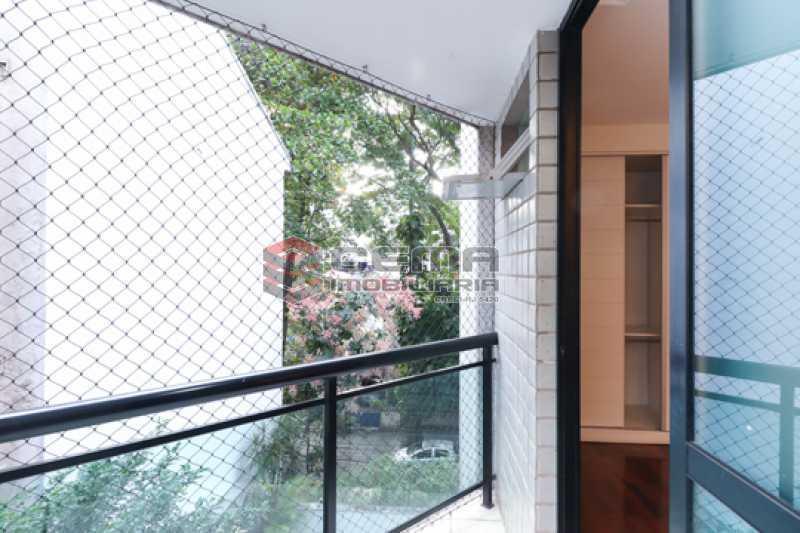 Varanda Suíte  - Apartamento 3 quartos para alugar Laranjeiras, Zona Sul RJ - R$ 4.600 - LAAP34546 - 19