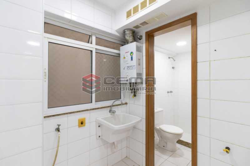 Área de serviço - Apartamento 2 quartos para alugar Catete, Zona Sul RJ - R$ 3.000 - LAAP25627 - 21