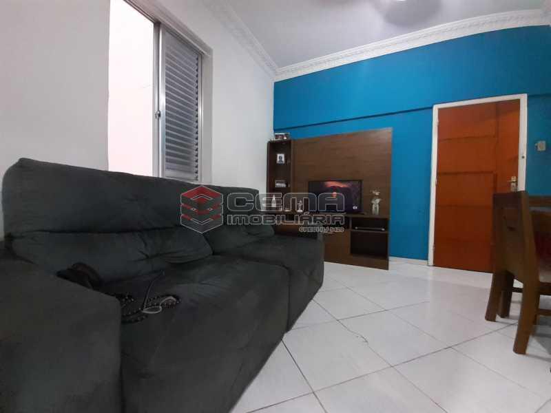 sala ampla - Apartamento 2 quartos à venda Laranjeiras, Zona Sul RJ - R$ 470.000 - LA24577 - 5