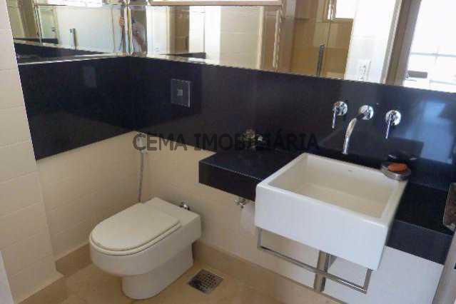 banheiro social - Apartamento À Venda - Lagoa - Rio de Janeiro - RJ - LAAP40128 - 21