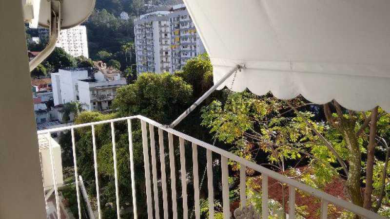 varanda vista verde - Apartamento 2 quartos à venda Cosme Velho, Zona Sul RJ - R$ 1.080.000 - LAAP20956 - 1