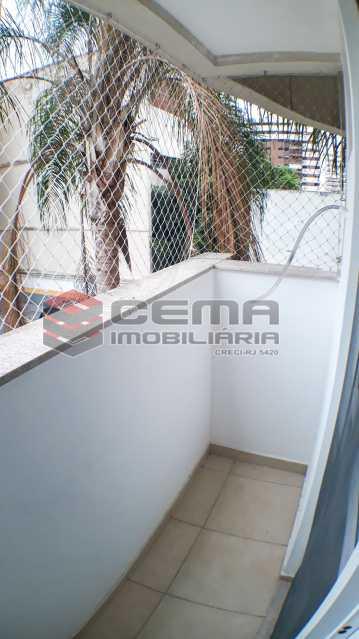 Varanda Quarto 2 - Apartamento 2 quartos para alugar Botafogo, Zona Sul RJ - R$ 4.750 - LAAP21083 - 6