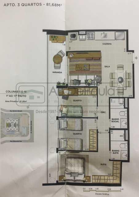 Novo Documento 2019-03-15 11.4 - Apartamento Rio de Janeiro, Recreio dos Bandeirantes, RJ À Venda, 3 Quartos, 75m² - ABAP30084 - 8