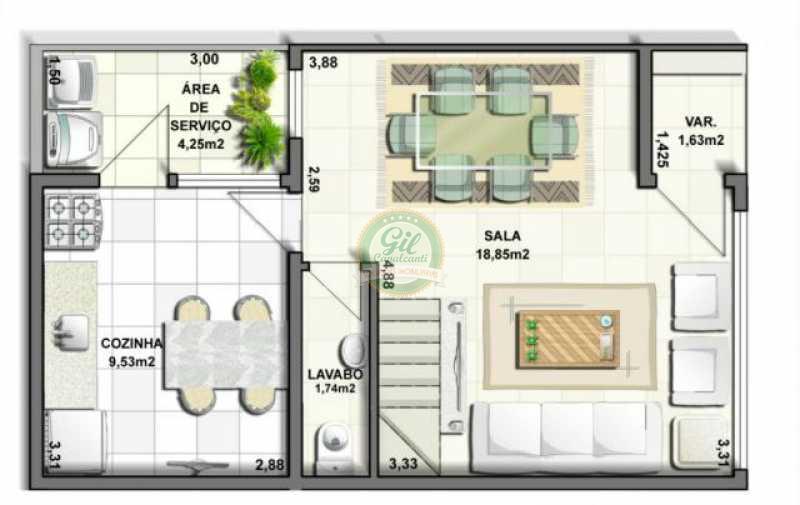 3 - Casa em Condominio Tanque,Rio de Janeiro,RJ À Venda,3 Quartos,120m² - CS1877 - 13